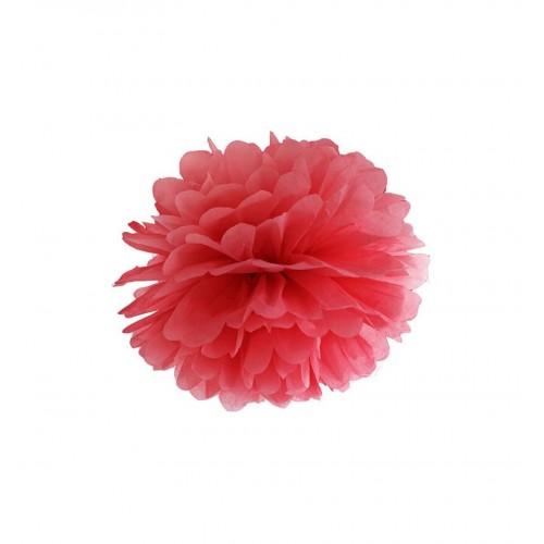 Czerwony pompon bibułowy