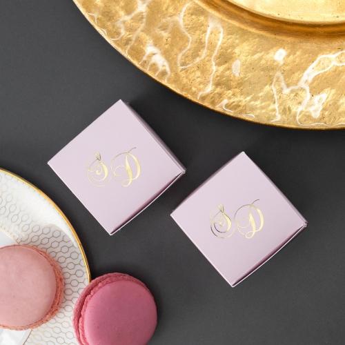 Kwadratowe pudełeczka dla gości - Mirror Card (10 sztuk)
