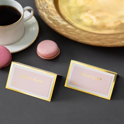 Winietki ślubne - Mirror Card - składane
