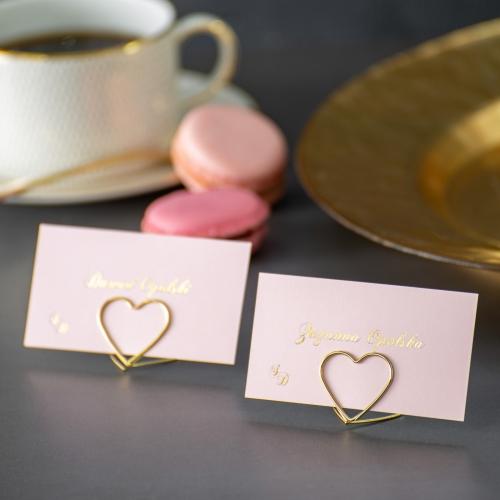 Winietki ślubne - Mirror Card - na stojaku