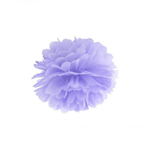 Liliowy pompon bibułowy