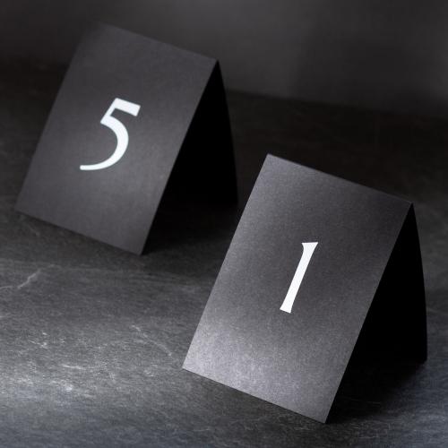 Numer stolika - Black Velvet