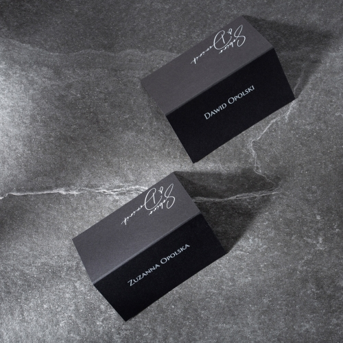 Winietki ślubne - Black Velvet - składane