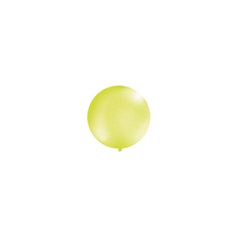 Metaliczny mega balon jasnozielony o średnicy 1 metra
