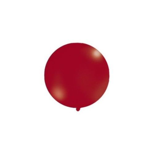 Metaliczny mega balon bordowy o średnicy 1 metra