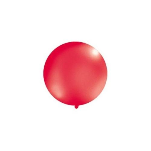 Metaliczny mega balon czerwony o średnicy 1 metra