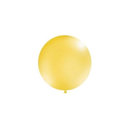 Metaliczny mega balon złoty o średnicy 1 metra