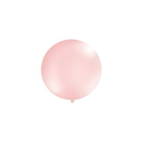 Metaliczny mega balon różowy o średnicy 1 metra