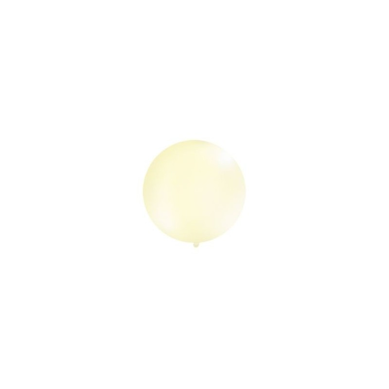 Metaliczny mega balon kremowy o średnicy 1 metra