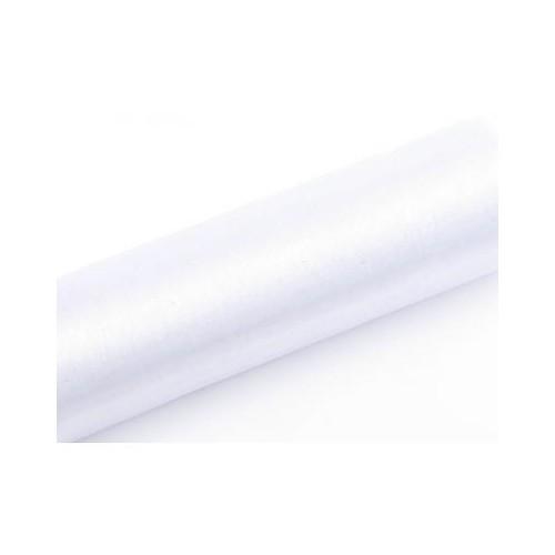 Organza gładka - biała