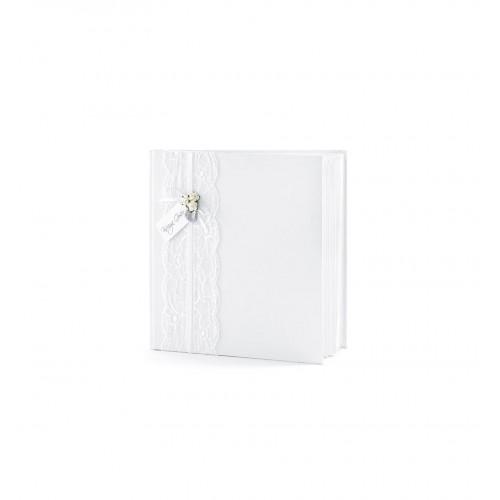 Biała księga gości z koronką