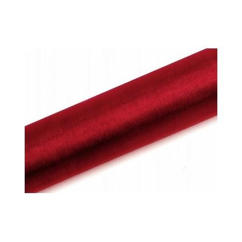 Organza gładka - czerwona