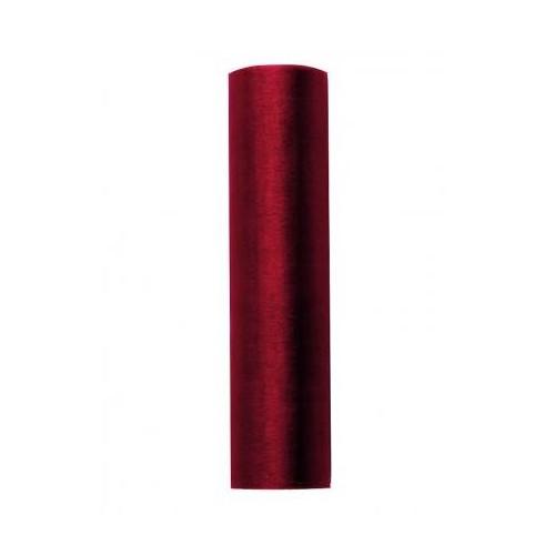 Organza gładka - winnoczerwona