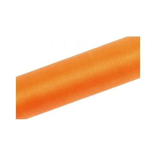 Organza gładka - pomarańczowa